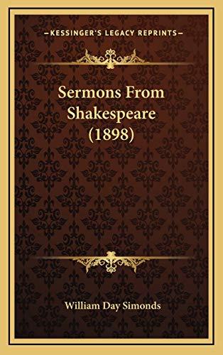 9781167055683: Sermons From Shakespeare (1898)