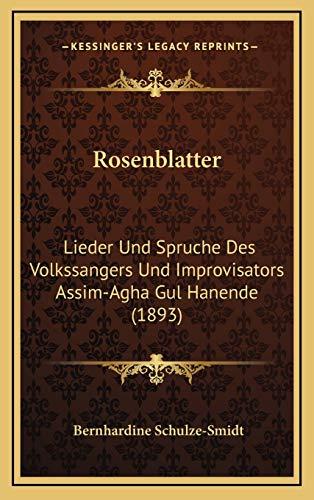 9781167070914: Rosenblatter