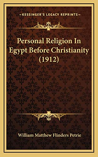 9781167079504: Personal Religion In Egypt Before Christianity (1912)