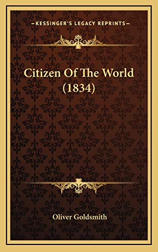 9781167120817: Citizen Of The World (1834)