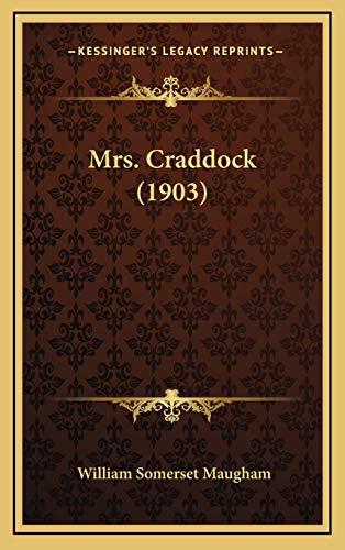 9781167125423: Mrs. Craddock (1903)