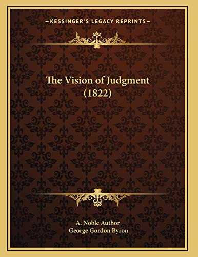 9781167162237: The Vision of Judgment (1822)