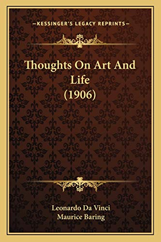 9781167205781: Thoughts On Art And Life (1906)