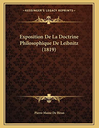 9781167345081: Exposition De La Doctrine Philosophique De Leibnitz (1819) (French Edition)