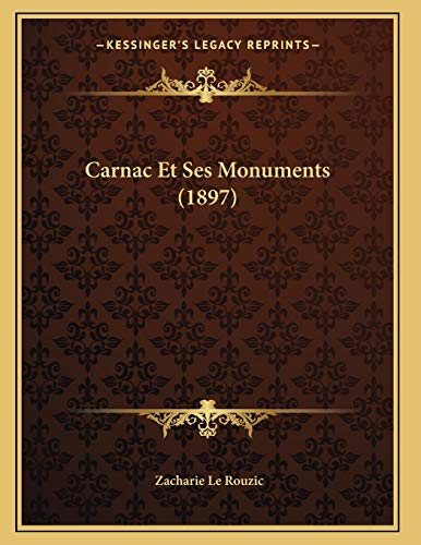 9781167358821: Carnac Et Ses Monuments (1897) (French Edition)