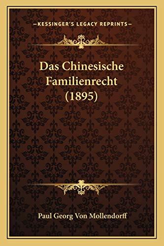 9781167417887: Das Chinesische Familienrecht (1895)