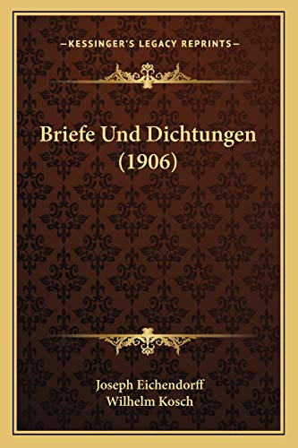 9781167465956: Briefe Und Dichtungen (1906)
