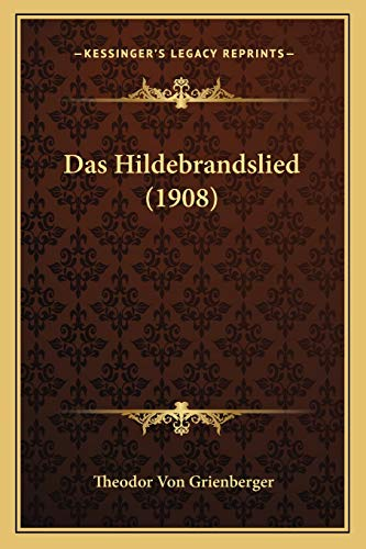 9781167469510: Das Hildebrandslied (1908)