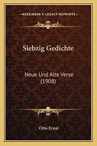 9781167498800: Siebzig Gedichte: Neue Und Alte Verse (1908) (German Edition)