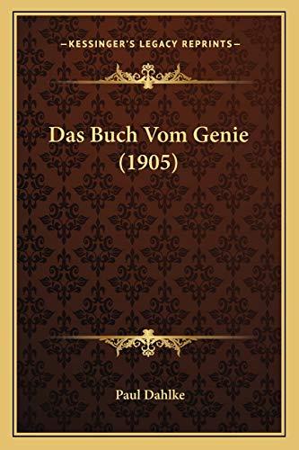 9781167524509: Das Buch Vom Genie (1905)