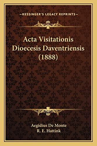 9781167583988: Acta Visitationis Dioecesis Daventriensis (1888) (Latin Edition)