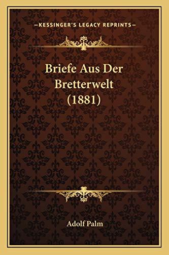 9781167631351: Briefe Aus Der Bretterwelt (1881) (German Edition)