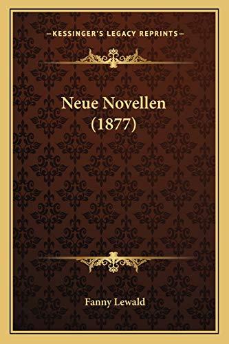 9781167646010: Neue Novellen (1877) (German Edition)