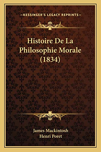 9781167706790: Histoire de La Philosophie Morale (1834)