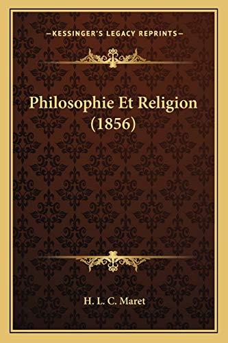 9781167713408: Philosophie Et Religion (1856) (French Edition)