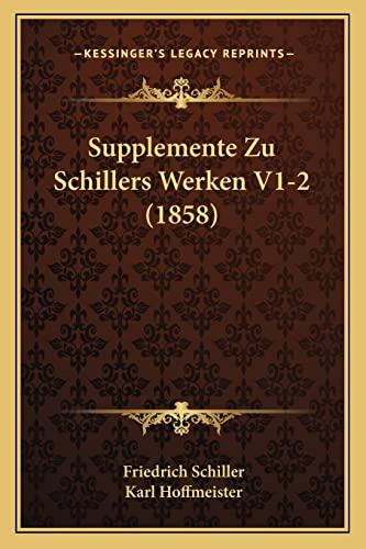 9781167725869: Supplemente Zu Schillers Werken V1-2 (1858)