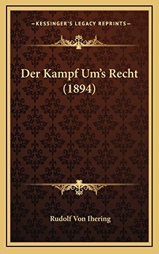 9781167747946: Der Kampf Um's Recht (1894)