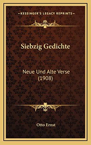 9781167771019: Siebzig Gedichte: Neue Und Alte Verse (1908) (German Edition)