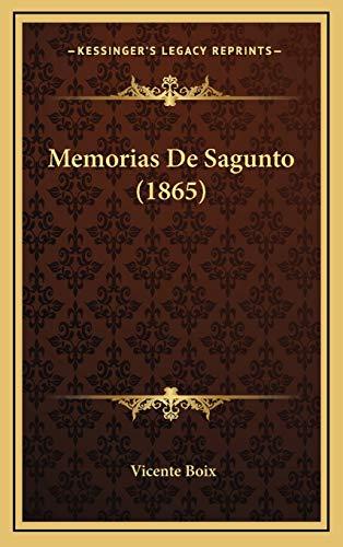 9781167787126: Memorias de Sagunto (1865)