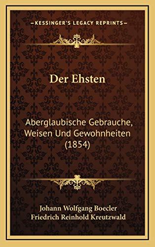9781167793813: Der Ehsten: Aberglaubische Gebrauche, Weisen Und Gewohnheiten (1854)