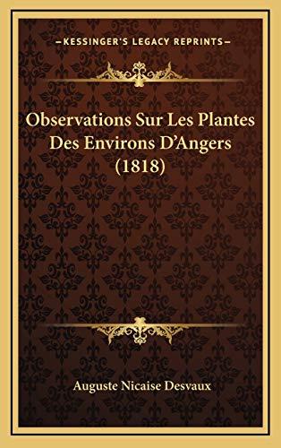 9781167807176: Observations Sur Les Plantes Des Environs D'Angers (1818)