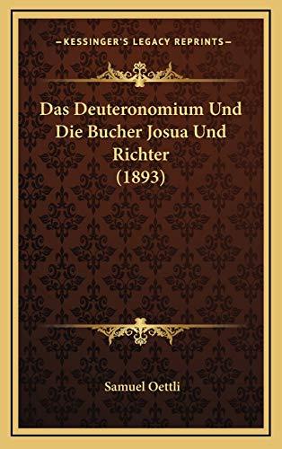 9781167880216: Das Deuteronomium Und Die Bucher Josua Und Richter (1893)