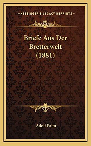 9781167896743: Briefe Aus Der Bretterwelt (1881) (German Edition)