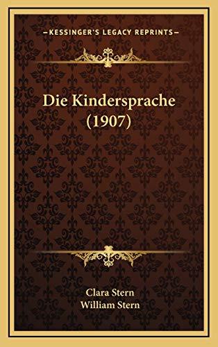 9781167927423: Die Kindersprache (1907)