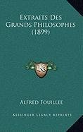 9781167978784: Extraits Des Grands Philosophes (1899) (French Edition)