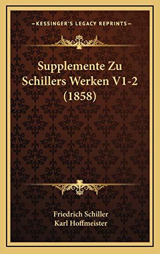9781167986451: Supplemente Zu Schillers Werken V1-2 (1858)
