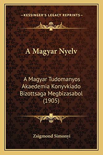 9781168142573: A Magyar Nyelv: A Magyar Tudomanyos Akaedemia Konyvkiado Bizottsaga Megbizasabol (1905)