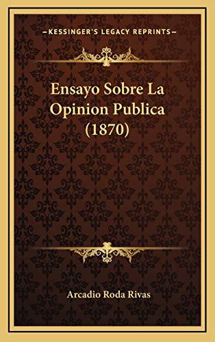 9781168247254: Ensayo Sobre La Opinion Publica (1870)