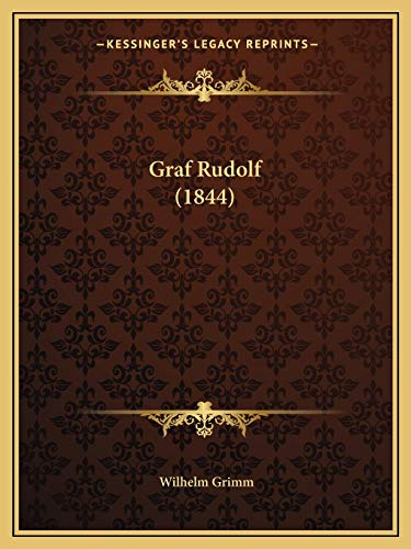 9781168342034: Graf Rudolf (1844) (German Edition)
