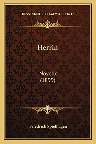 9781168439444: Herrin: Novelle (1899) (German Edition)