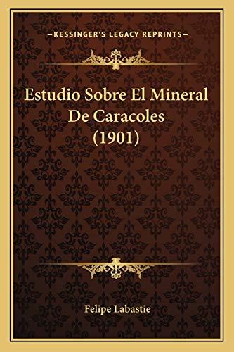 9781168474940: Estudio Sobre El Mineral de Caracoles (1901)