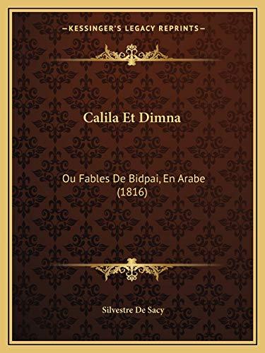 9781168475596: Calila Et Dimna: Ou Fables de Bidpai, En Arabe (1816)