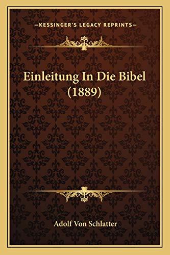 9781168482570: Einleitung in Die Bibel (1889)