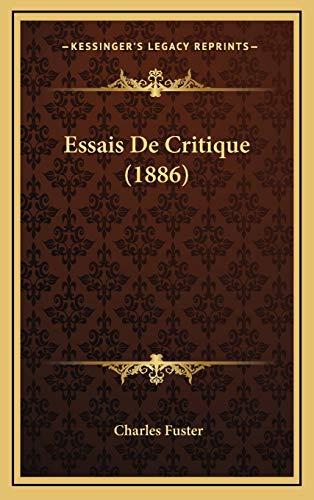 9781168575074: Essais de Critique (1886)