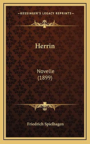 9781168579454: Herrin: Novelle (1899) (German Edition)