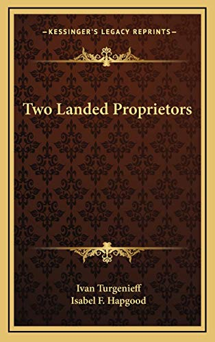 Two Landed Proprietors (1168643554) by Turgenieff, Ivan