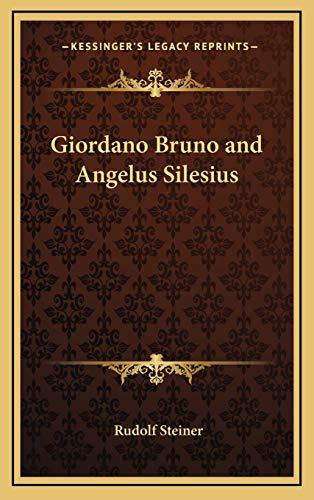 Giordano Bruno and Angelus Silesius: Steiner, Rudolf