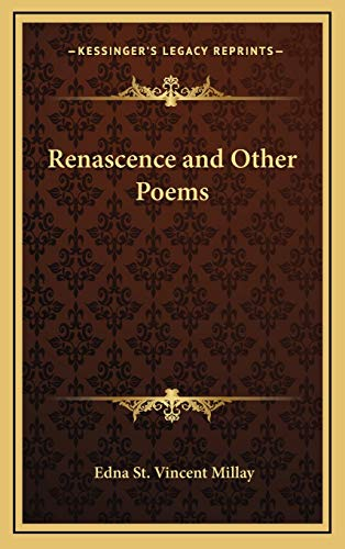 9781168669919: Renascence and Other Poems