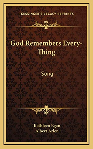 9781168673947: God Remembers Every-Thing: Song