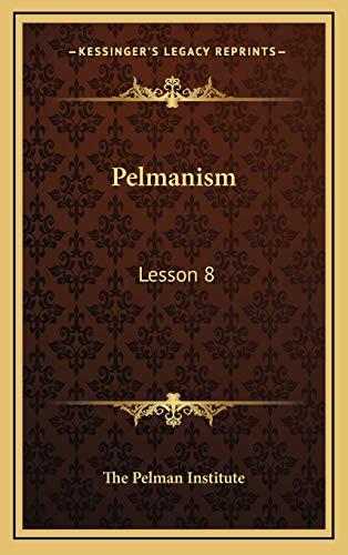 9781168676283: Pelmanism: Lesson 8