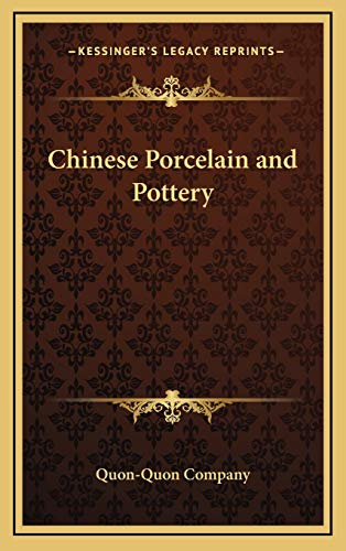 9781168676825: Chinese Porcelain and Pottery