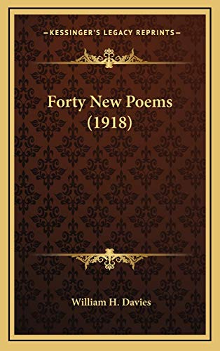 9781168726933: Forty New Poems (1918)