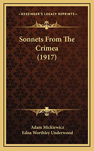 9781168733214: Sonnets From The Crimea (1917)