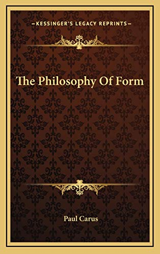 9781168739803: The Philosophy Of Form