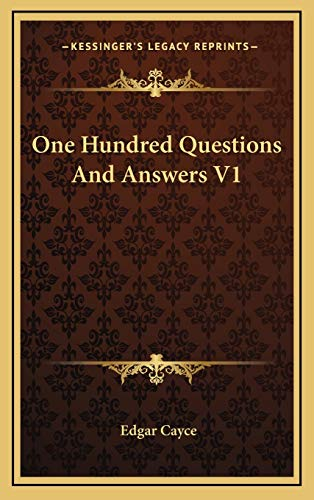 9781168786142: One Hundred Questions And Answers V1