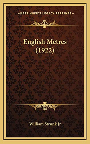 9781168805898: English Metres (1922)